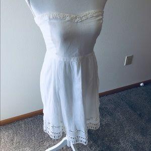 Old Navy White Strapless sundress